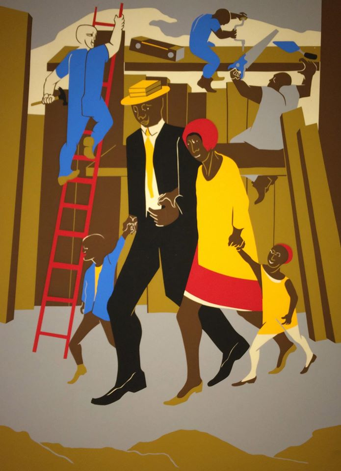 "Jacob Lawrence, ""The Builders (Family)"", 1974, silkscreen"