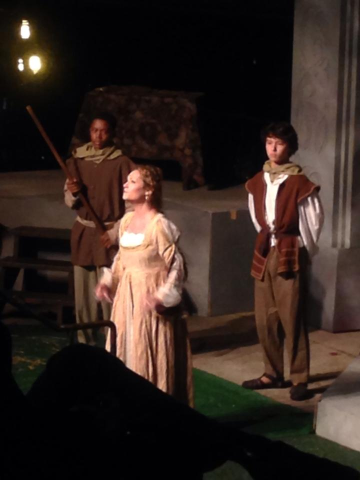 Katie Mixon (center) as Cordelia - photo by Gerilyn Browning Kim