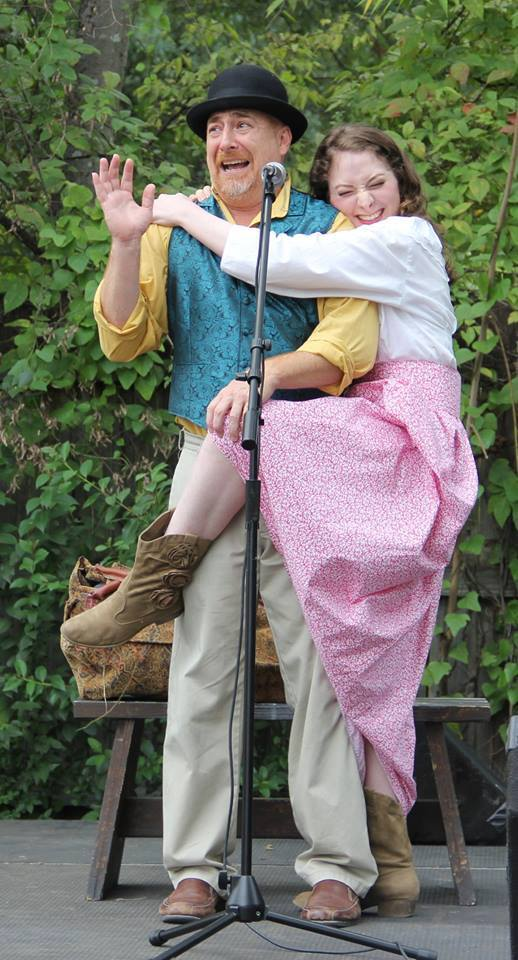 Rob Spranle and Sirena Dib perform at the Rosewood Arts Festival; photo by Frank Thompson
