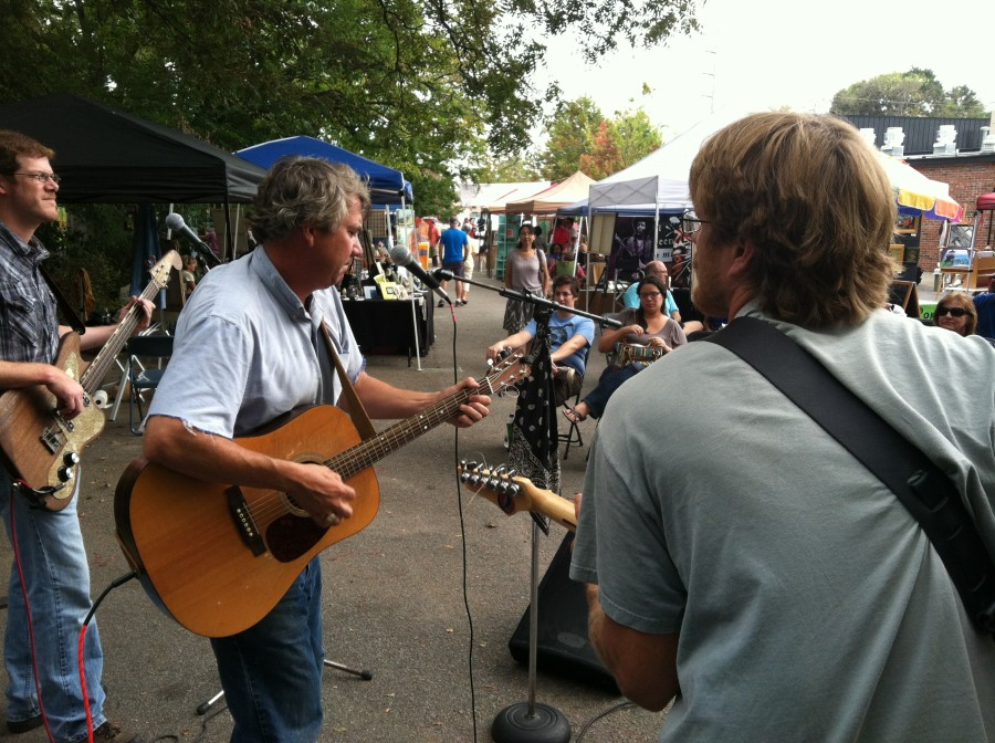 Tom Hall & the Plowboys performing at Rosewood Arts Festival