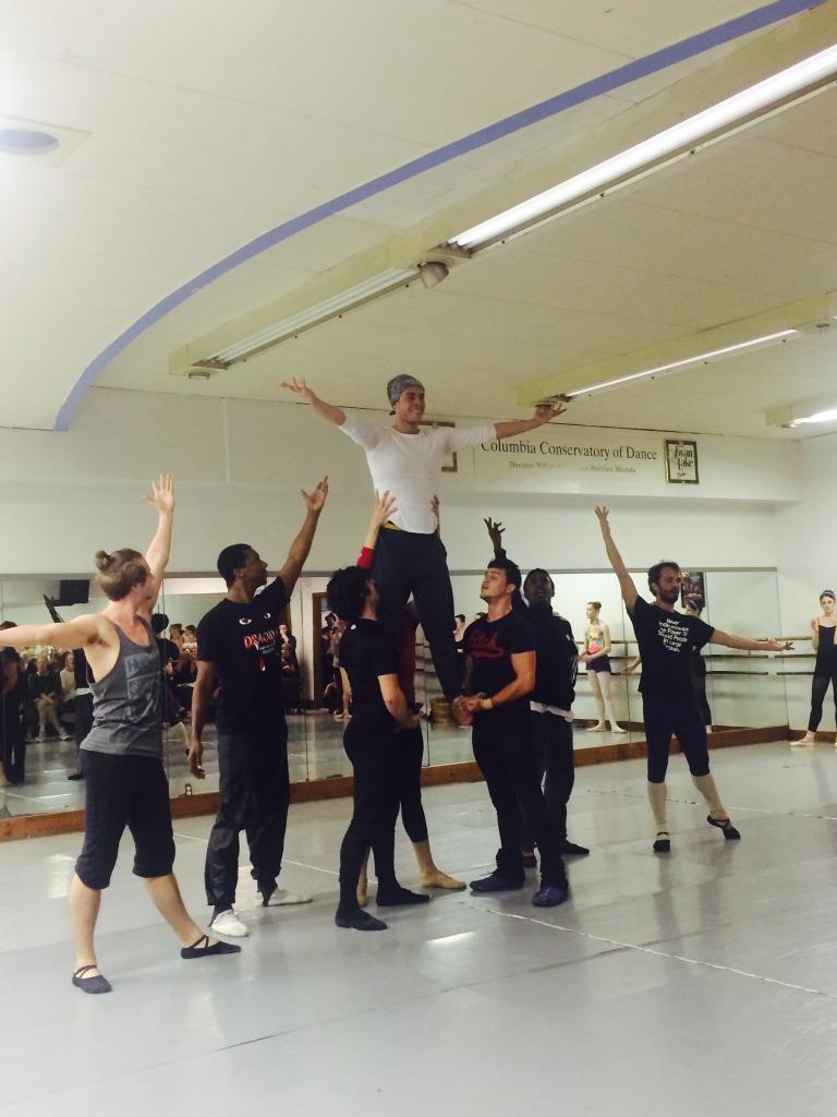 The gentlemen of Aladdin for Columbia City Ballet