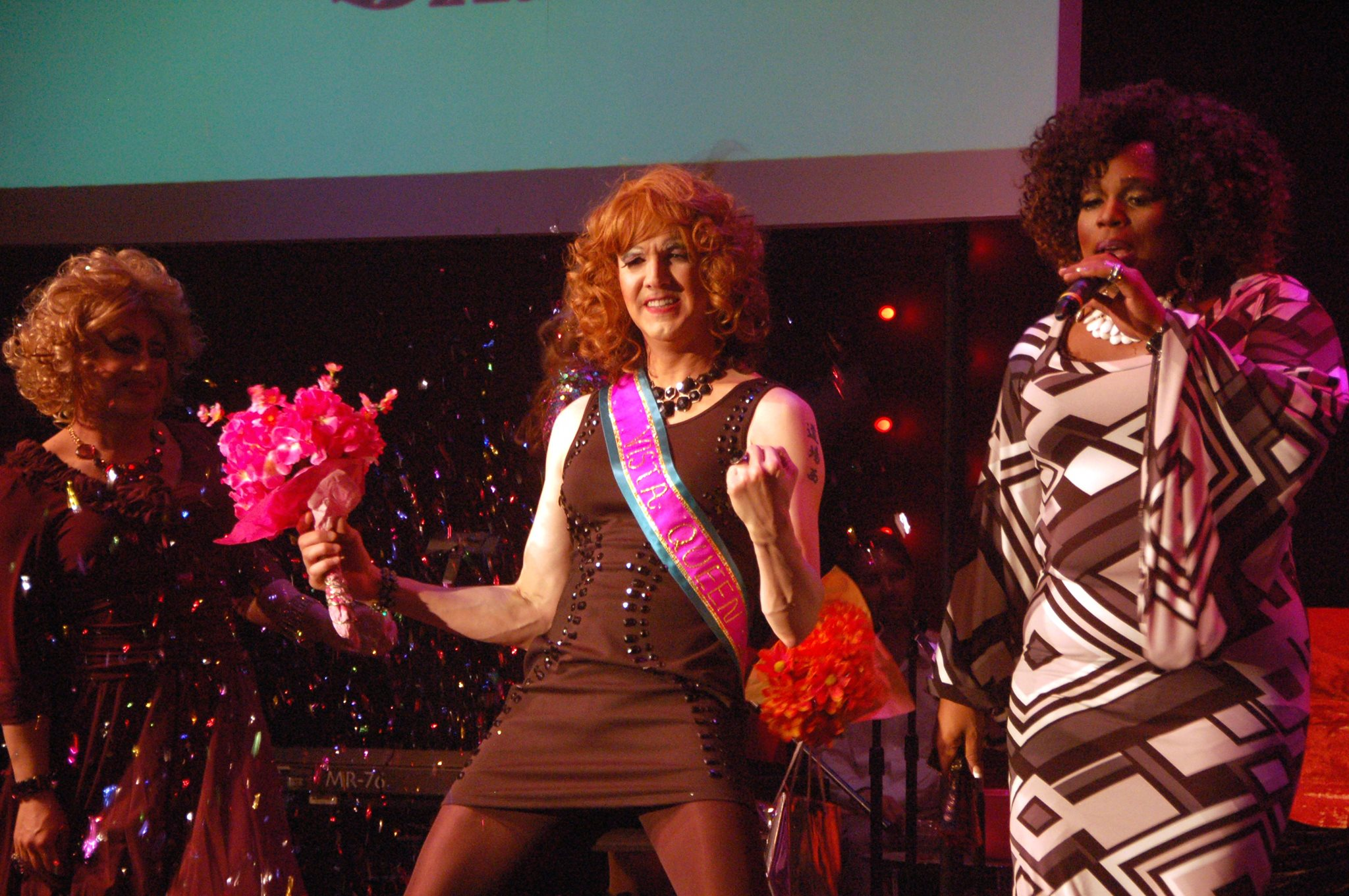 Tess Tickles (Jason Stokes) Performing at the 2014 Vista Queen. Photo by Richard Kiraly.
