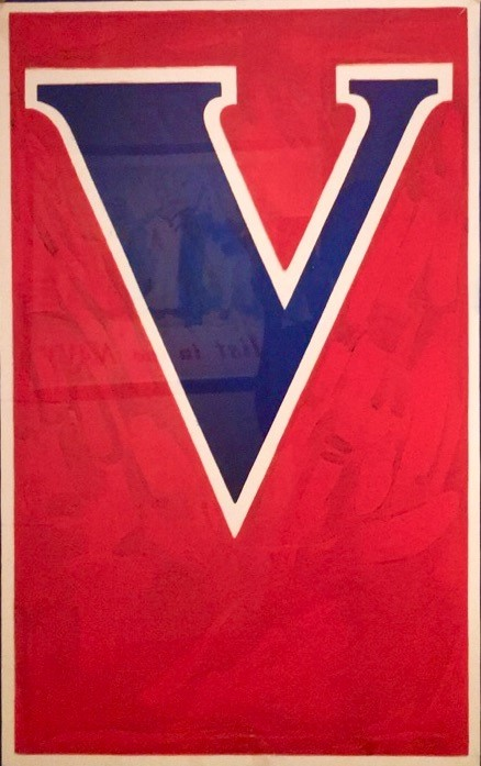 Photo: V (for Victory), Anonymous, 1919, Chromolithograph