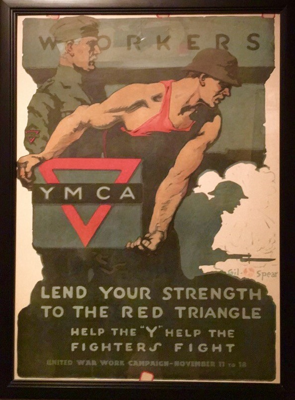 Photo: Lend Your Strength to the Red Triangle, Gil Spear (American, active in 20th century), Chromolithograph