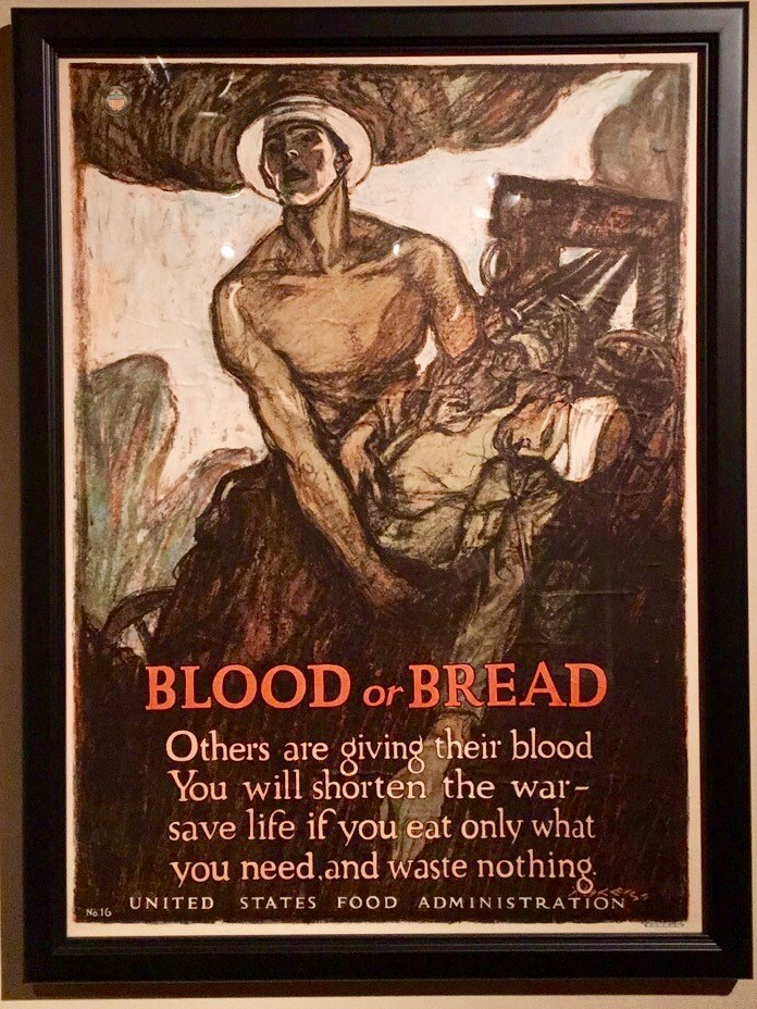 Photo: Blood or Bread, Henry Patrick Raleigh (American, 1880-1944), 1917, Chromolithograph