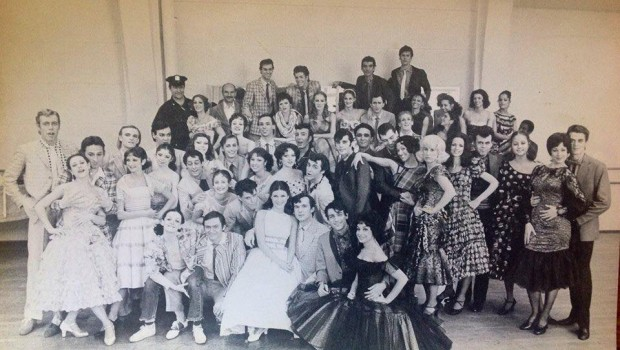 Gillian Scalici-Albrecht pictured as Anita with the cast of West Side Story